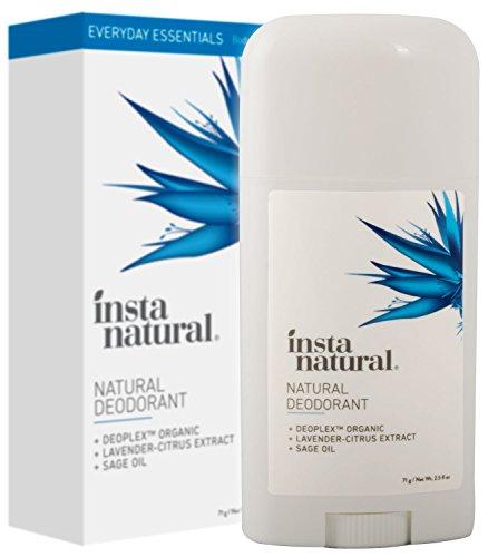 InstaNatural Deodorante Ascelle Naturale – Stick Senza Sali d'Alluminio che Protegge da Odori –Profumazione Lavanda e Agrumi per Uomo e Donna –Formula Atossica Antiodore con Ingredienti Biologici -70g