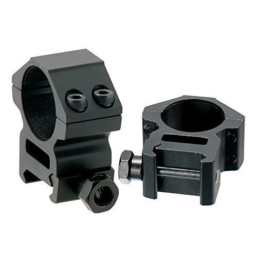 UTG RGWM-25M4 Collares de Montaje para la Óptica, Unisex adulto, Negro, Única