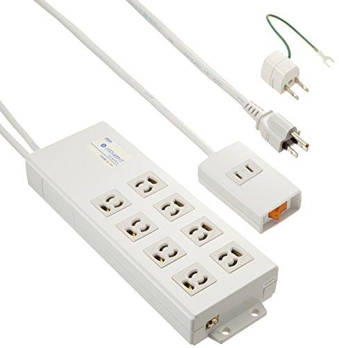 サンワサプライ 電源ノイズフィルタ内蔵 タップ 3P 8個口 括集中スイッチ付 TAP-3804NFN