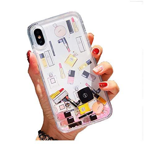Makeups Perfume Quicksand Glitter Funda para iPhone 11 Pro Max 6 6S 7 8 Plus Funda para iPhone XS Max XR X XS
