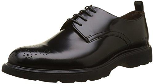 IKKS Doc, Zapatos de Cordones Derby Hombre, Negro, 45 EU