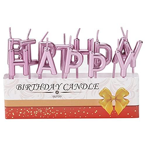13 pezzi Candele buon compleanno Candele torta di compleanno Candele di compleanno Candele pastello Candele d'oro Candela di compleanno Candele di compleanno Candele in oro rosa Cake Decor Rose Gold