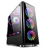 GOLDEN FIELD - Z20 Case per PC da Gaming Computer E-ATX, ATX, Micro-ATX, Mini-ITX con Finestra Laterale