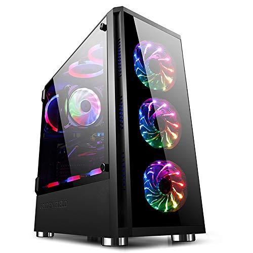 GOLDEN FIELD Z20 PC-Gehäuse E-ATX/ATX/Micro ATX Mid Tower Computer PC Gehaeuse mit Schwenktür Seiten Panel-Design für Desktop Computer PC
