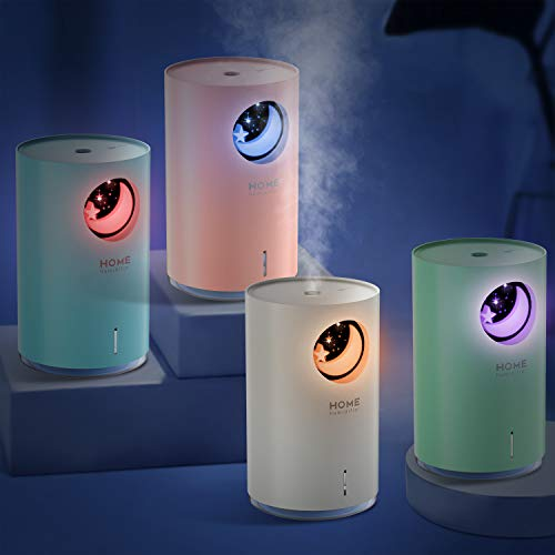 700ml Aroma Diffuser POVO Duftlampe Öle Diffusor bis zu 18-27 Stunden Arbeitszeit BPA-free Aromatherapie Luftbefeuchter Vernebler Raumbefeuchter Ultra Leise mit 7 Farben LED (Weiß)