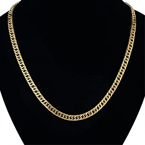 Hip Hop 6.5mm Acero Inoxidable Negro Oro Plata Color Cubano Cadena N7M7 Hombres Enlace Collar 20-28' Cadenas XL492U