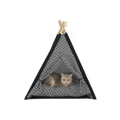 HBOY Huisdier levert kat nest ins kat nest kat speelgoed kat klimmen frame kleine massief hout wasbare kat tent nest kat bed hondenhok hond tent