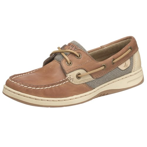 Sperry Womens Bluefish Boat Shoe, Linen/Oat, 5