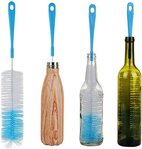 ALINK 17in Extra Long Bottle Cleaning Brush Cleaner for Washing Narrow Neck Beer, Wine, Kombucha, Thermos, Nalgene, Carafe, Yeti, S'Well, Brewing Bottles, Hummingbird Feeder