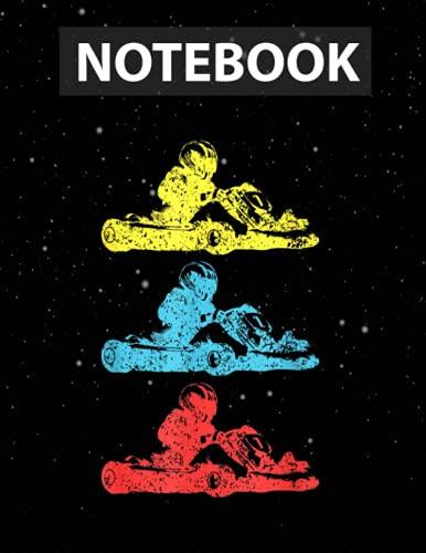 Go-Kar Kart Racing Go-Cart Karting For Men Kids Notebook Journal Line/ 130 Pages / Large 8.5''x11''