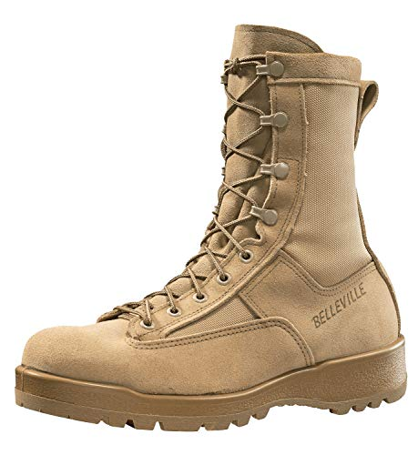 Belleville New Made in US 790 G GI Desert Tan Military Army Combat Waterproof Goretex Temperate Flight Boots (9.5 Regular)