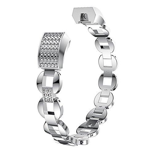 Aottom Cinturino Compatibile con Cinturino Fitbit Alta/Fitbit Alta HR Cinturino di Ricambio Regolabile Polso Sport di Braccialetto Cinturino in Acciaio per Fitbit Alta/Fitbit Alta HR Donna