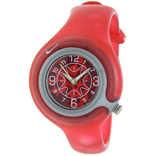 NIKE WK0003-605 - Reloj Nike Kids SPORTWARE Reloj Analógico para Niño/a - Caucho Color Rojo