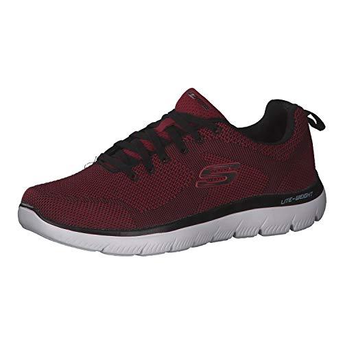 Skechers Brisbane, Herren-Schuhe, Rot - Rosso Nero E Rosso - Größe: 44 EU