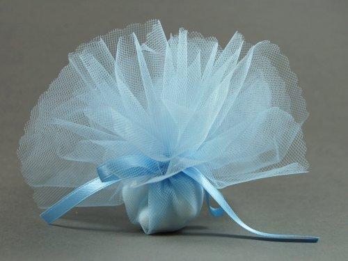 Hochzeitsservice Marriage Day 10 Stück Bonboniere Uni hellblau