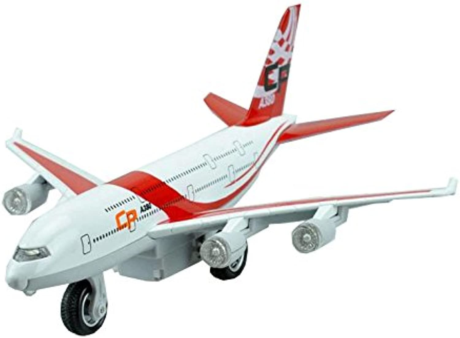 Diecast Air Bus A380 RED Plane Model for Kids 7.8''7''