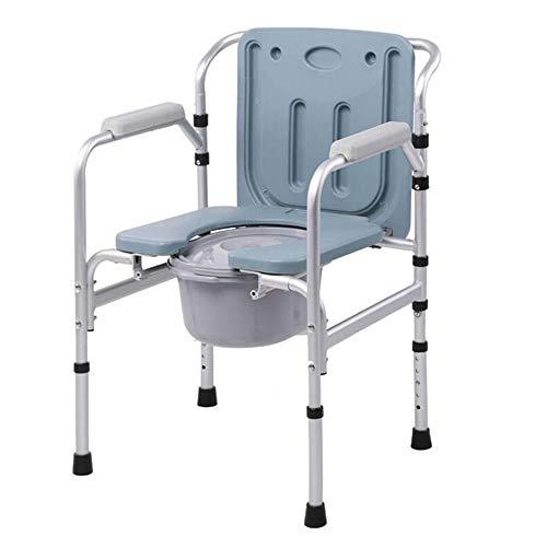 ALY® Kopfende Commode Stuhl Extra Breite Klobrille äLteres Medizinischer Hilfstoilettensitz Behinderte Badezimmer Sicherheit Rutschfester Duschstuhl Mit TöPfchen