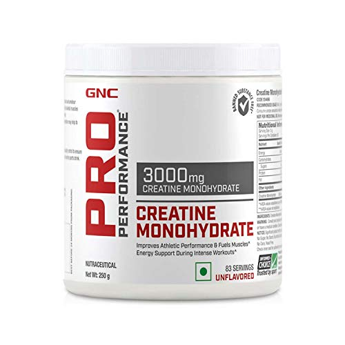 GNC Pro Performance Creatine Monohydrate 3000 mg Supplement - 250 g