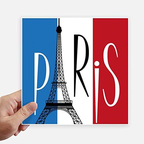 DIYthinker Nationale Vlag Frankrijk Eiffeltoren Parijs Vierkante Stickers 20Cm Wandkoffer Laptop Motobike Decal 4 Stks