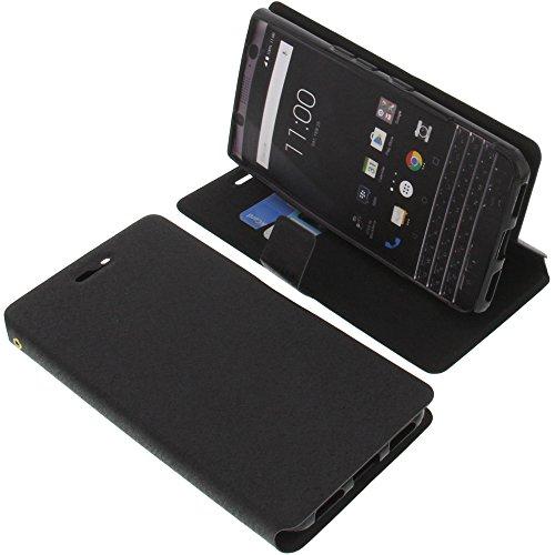 foto-kontor Tasche für BlackBerry KeyOne Book Style schwarz Schutz Hülle Buch