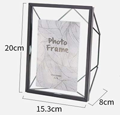 Picture Frame Glass Creative Golden Photo Frame Nordic ins Geometric Metal Glass Frame Home Study Decorative