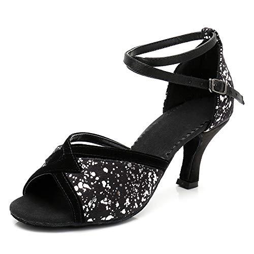 HIPPOSEUS Zapatos de Baile de salón Brillantes para Mujer Zapatos de Baile...