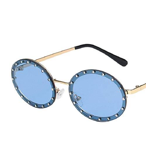Gafas de Sol Gafas De Sol Polarizadas para Mujer Montura Vintage Galsses Gafas De Diseñador Retro Espejo Redondo Metal Steampunk 5