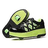 WFSH Patines de Rodillos para niños Soltero/Doble Rueda Roller Roller Skates Boys and Girls Zapatos de Rodillos al Aire Libre (Color : H, Size : 29)