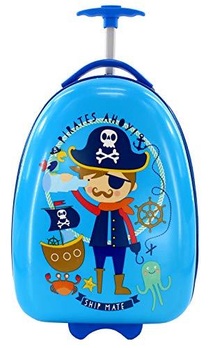Maleta Infantil de Cabina Trolley Infantil Fantasia Estampados Equipaje de Mano 2 Ruedas (Pirata)