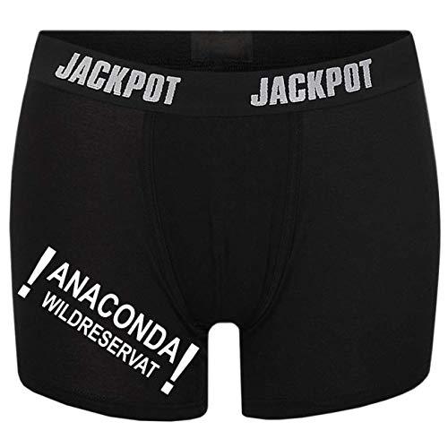 Spaß kostet Männer Boxershort mit Spruch Anaconda (Größe S bix XXXL)