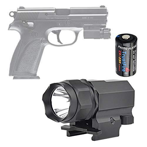TrustFire P05 Gun Light Compact Weapon Mounted Pistol Light 210 Lumen Tactical Flashlight for G lock 17 19 21 22 30 43 48 and Picatinny Rail