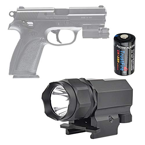 TrustFire P05 Gun Light Compact Weapon Mounted Pistol Light 210 Lumen Tactical Flashlight for G lock 17 19 21 22 30 43 48 and Picatinny Rail