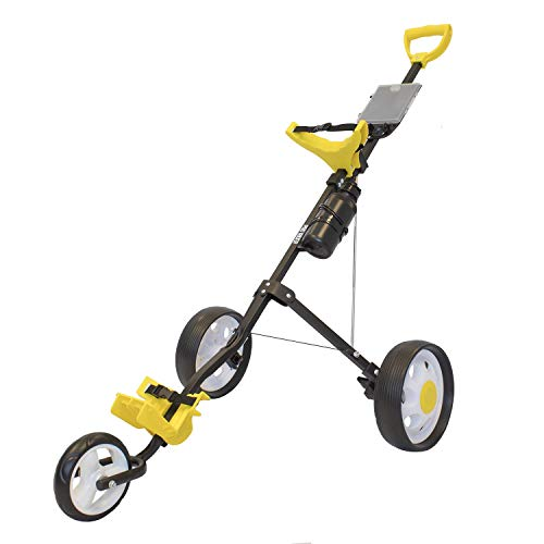 Pro Rider 3 Wheel Push Golf Trolley - Manual Push/Pull Golf Cart (Black &...
