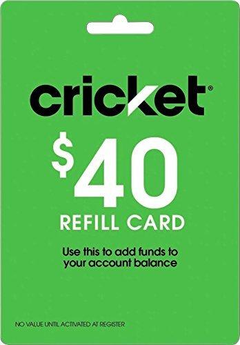 Cricket Wireless - $40 Refill Card