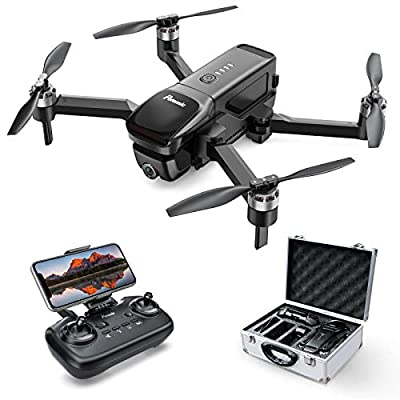 Potensic Foldable Drones with Camera for Adults 4K FHD, D68 GPS FPV Drone for Beginner, Quadcopter with Brushless Motor, Auto Return Home, Follow Me, 25 Mins Flight Time, Includes Carrying Case