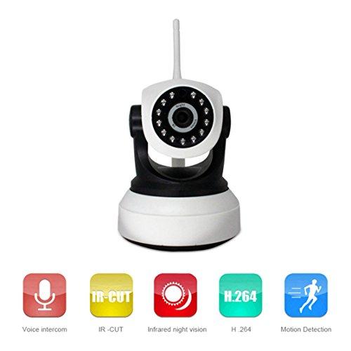 Telecamera IP Wireless 720P Telecamere Di Sorveglianza Wifi HD IP Camera Remote Con Chiamata Vocale Motion Detection Visione Notturna Compatibile con iOS e Android