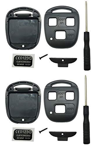 HYQ1512V HYQ12BBT For Lexus Key Fob Shell Case Replacement Key Cover Remote Fob Housing Fits Lexus ES GS GX IS LS LX RX SC FCC ID