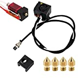 CR-10S 3D Printers Original Replacement Parts/Accessories Full Assemble MK8 Extruder Hot End Kits (with Nozzle 0.4mm /0.2mm /0.3mm /0.5mm) fit for Creality 3D Printing Printer CR-10 CR-10S CR10S5