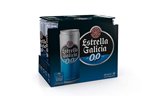 Estrella Galicia Beer without Alcohol - Pack of 6 x 330 ml - Total: 1980 ml