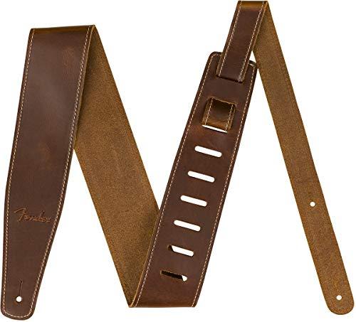 "Fender Broken-In Leather Strap, Brown 2.5"""