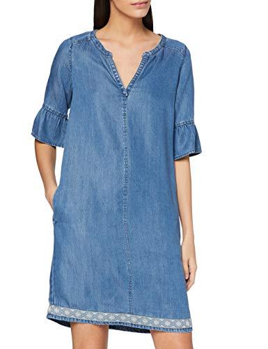 s.Oliver Damen 14.805.82.7825 Kleid, Blau (Blue Denim Non Stretch 53y4), 34