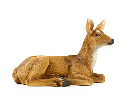 JHVYF 8.8' Height Resin Doe Statue Home Ornaments Animal Art Décor Yard Lawn Decor Garden Outdoor Patio Decorations