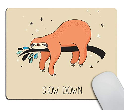 Smooffly Funny Sloth Mouse pad,Sleeping Sloth Hanging on a Bench Cozy Lazy Wild Creature Sloths Personality Desings Gaming Mouse Pad