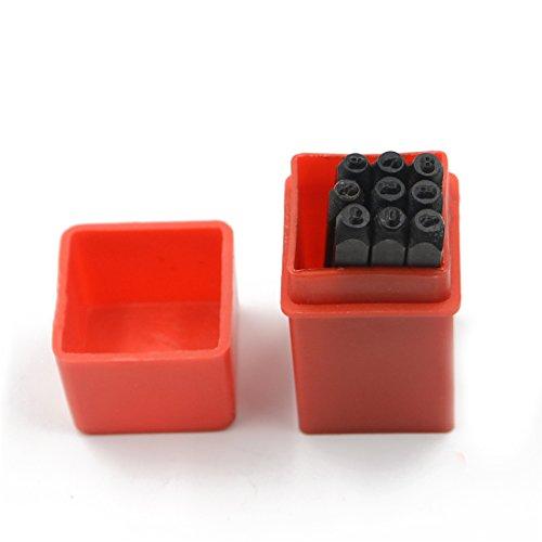 Sellos de acero Metal juego de letras del alfabeto y números de herramienta del arte en caja de plástico morir, 2mm Number