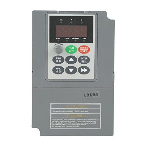 Variador de frecuencia, 1.5KW AC 380V 3.8A Convertidor de variador de frecuencia...