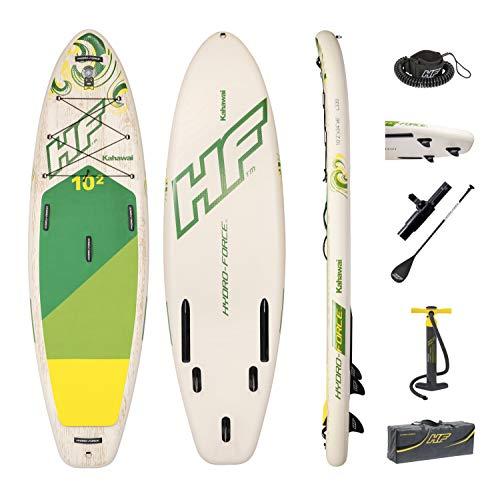 Material drop stitch con estructura abierta para ofrecer una resistencia y durabilidad Incluye: Tabla de paddle surf, bomba de mano, mochila deluxe, cuerda de seguridad, kit de reparación. Prácticas asas múltiples para un transporte cómodo y para la ...