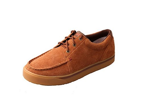 Twisted X Men's Cowboy Style Casual Hooey Loper Shoes, Brown Rough Out, 11.5 M