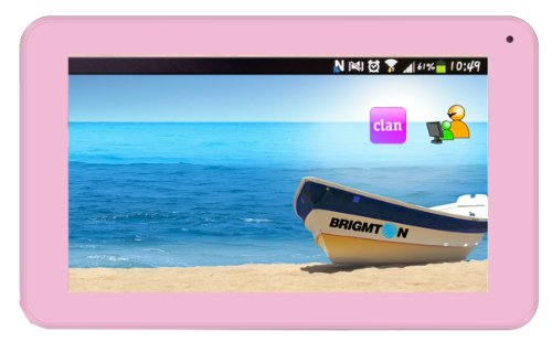 Brigmton BTPC-700DC 4GB Pink - Tablet (Minitableta, IEEE 802.11n, Android, Pizarra, Android, 4.2 Jelly Bean)