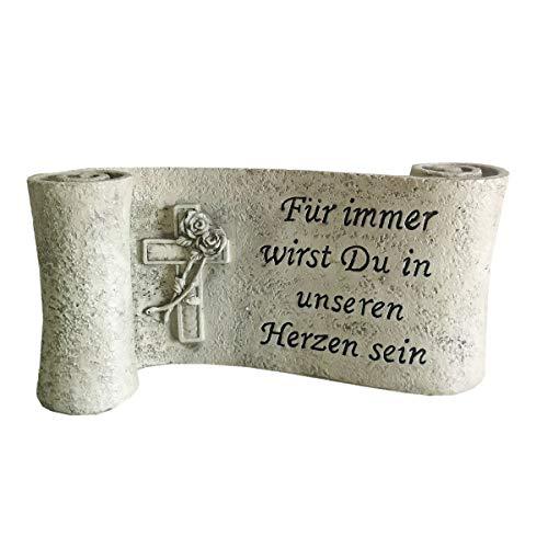 SHACAMO Grabschmuck Spruchband Für Immer wirst Du in unseren Herzen Sein