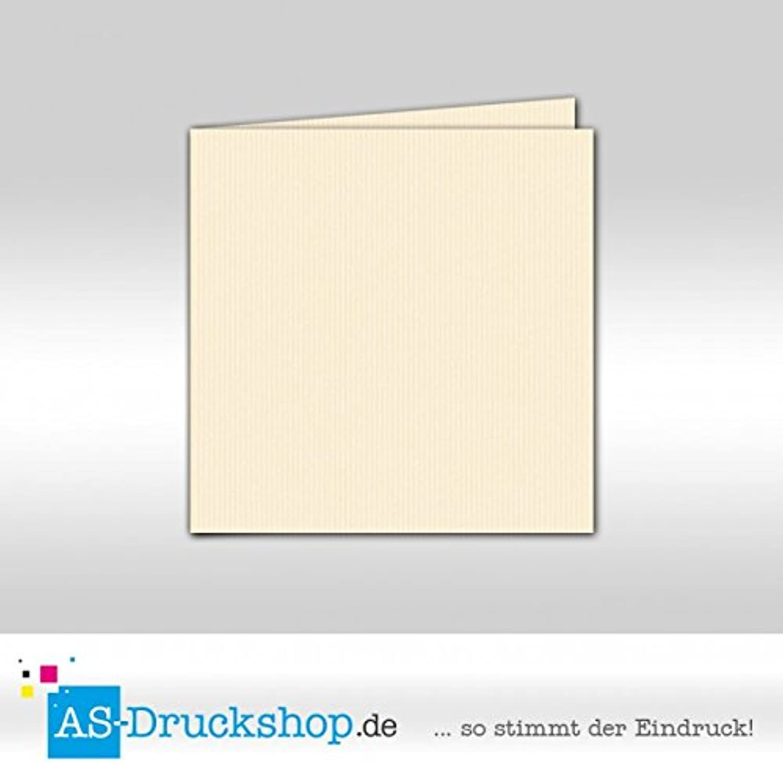 Faltkarte Doppelkarte - - - Ivory 100 Stück Quadratisch 157 x ...